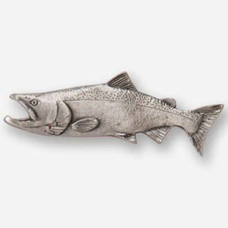 #D12420 - King Salmon (left) Pewter Drawer Pull