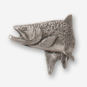#D12500 - Jumping Brook Trout (left) Pewter Drawer Pull