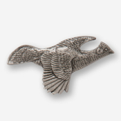 #D30910 - Flying Grouse (right) Pewter Drawer Pull