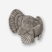 #D32610 - Strutting Turkey (right) Pewter Drawer Pull