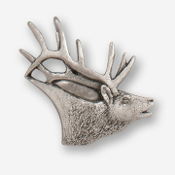 #D43410 - Elk Head (right) Pewter Drawer Pull