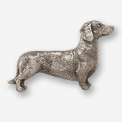 #D46210 - Dachsund (right) Pewter Drawer Pull