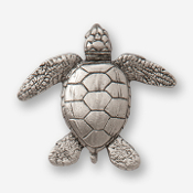 #D60700 - Sea Turtle Pewter Drawer Pull