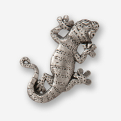 #D61610 - Gecko Pewter Drawer Pull