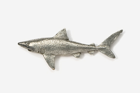 #204 - Dusky Shark Antiqued Pewter Pin
