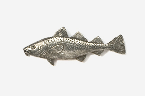 #221 - Cod Antiqued Pewter Pin