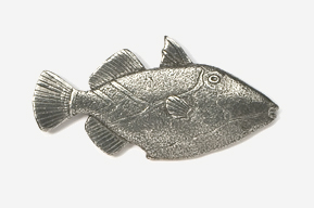 #272 - Triggerfish Antiqued Pewter Pin