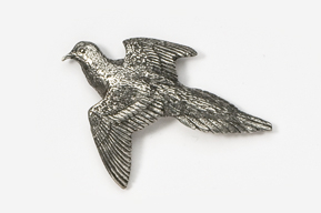 #351 - Dove Antiqued Pewter Pin