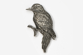 #378 - Woodpecker Antiqued Pewter Pin