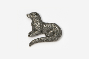 #414 - River Otter Antiqued Pewter Pin
