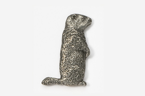 #415 - Woodchuck Antiqued Pewter Pin