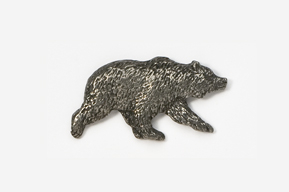 #423 - Grizzly Bear Antiqued Pewter Pin