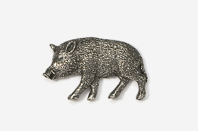 #425 - Wild Boar Antiqued Pewter Pin