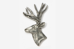 #430 - Mule Deer Antiqued Pewter Pin
