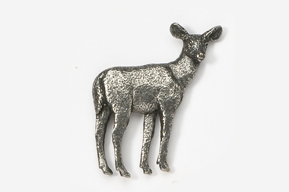 #469 - Doe Antiqued Pewter Pin