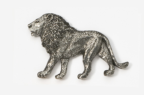 #493 - Lion Antiqued Pewter Pin