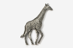 #494 - Giraffe Antiqued Pewter Pin