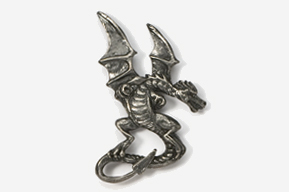 #650 - Dragon Antiqued Pewter Pin