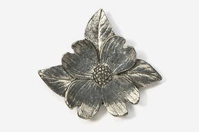 #750 - Dogwood Blossom Antiqued Pewter Pin