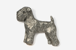 #875 - Wheaten Terrier Antiqued Pewter Pin