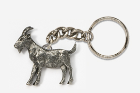 #K448 - Goat Antiqued Pewter Keychain