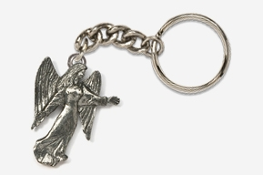 #K975 - Angel Antiqued Pewter Keychain