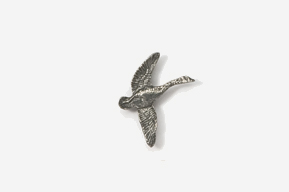 #M320 - Flying Canada Goose Pewter Mini-Pin