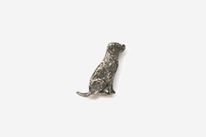 #M450 - Sitting Labrador Retriever Pewter Mini-Pin