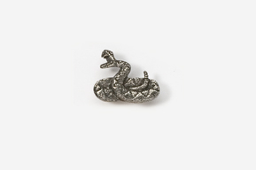 #M605 - Rattlesnake Pewter Mini-Pin