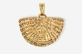 #P305AG - Tail Fan 24K Gold Plated Pendant
