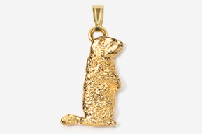 #P415G - Woodchuck 24K Gold Plated Pendant
