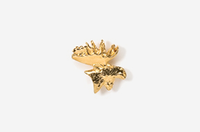 #TT433G - Moose Head 24K Plated Tie Tac