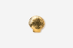 #TT541G - Scallop 24K Plated Tie Tac