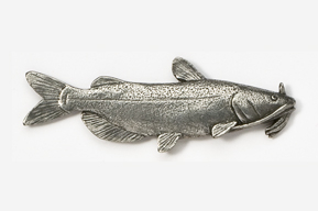 #100 - Channel Catfish Antiqued Pewter Pin