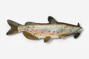 #100P - Channel Catfish Hand Painted Pin