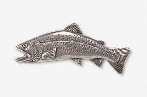 #115C - Arctic Char Antiqued Pewter Pin