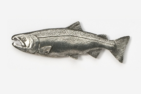 #135 - Male Coho Salmon Antiqued Pewter Pin