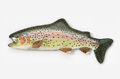 #112P - Rainbow Trout Hand Painted Pin