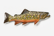 #115P - Brook Trout Hand Painted Pin