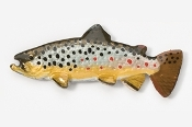 "#104P - 2 1/8"" Brown Trout Hand Painted Pin"