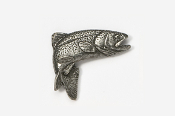#123 - Jumping Rainbow Trout Antiqued Pewter Pin
