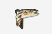 #123P - Jumping Rainbow Trout Hand Painted Pin