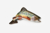 #125P - Jumping Brook Trout Hand Painted Pin