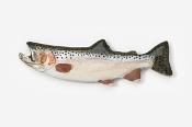 #129P - Male Steelhead Hand Painted Pin