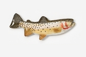 #130P - Cutthroat Trout Hand Painted Pin