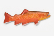 #115P-AC - Arctic Char Hand Painted Pin