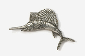 #201 - Sailfish Antiqued Pewter Pin