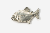 #110 - Piranha Antiqued Pewter Pin