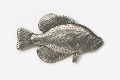 #113 - Black Crappie Antiqued Pewter Pin