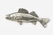 #119 - Walleye Antiqued Pewter Pin